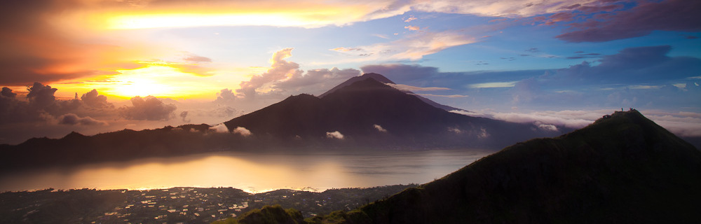 Stunning #sunrise at Gunung Batur in #Bali. #Indonesia #travel #landscape #photography
